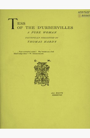 Tess of the D'Urberville's Thomas Hardy